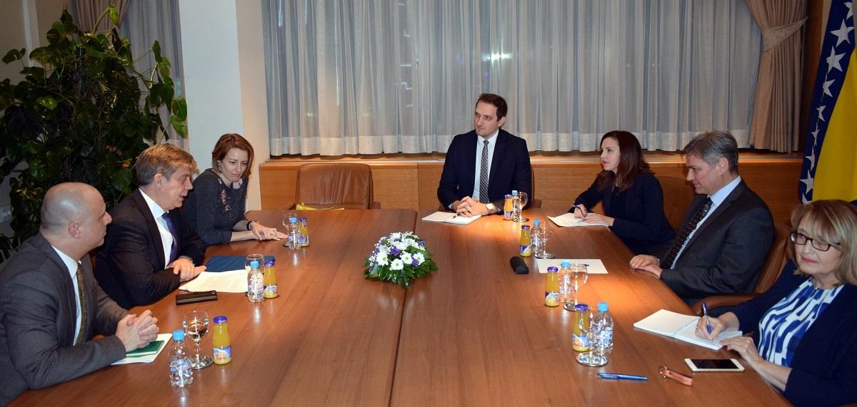 Predsjedavajući Zvizdić Sa Ambasadorom Wigemarkom