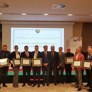 Uručene Plakete Najznačajnijim Stranim Investitorima U BiH Za 2018